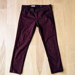 Adriano Goldschmied Maroon Pants Made in USA